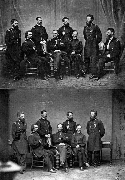 El general Blair es añadido a una foto del general Sherman