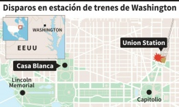 Evacúan brevemente principal estación de Washington tras disparos