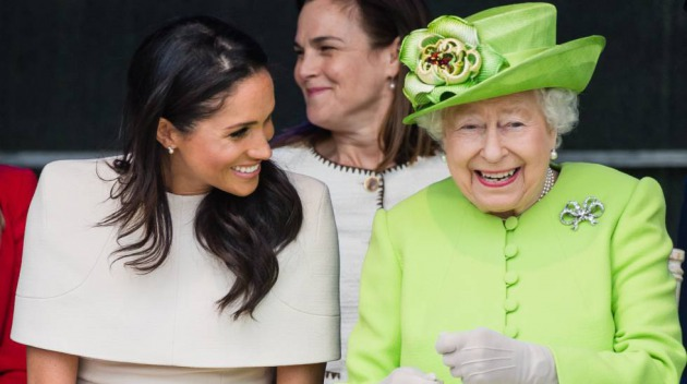 La duquesa de Sussex, Meghan Markle, y la reina Isabel II, en junio.